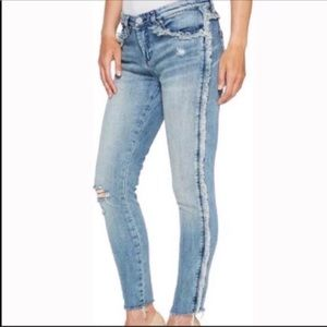 Blank nyc Fray for daysFringe raw hem skinny jeans